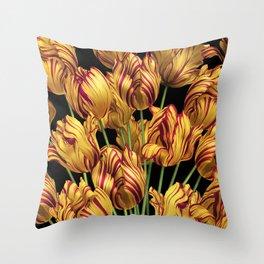 Royal Sovereign Tulips bouquet. Throw Pillow