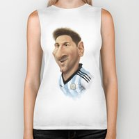 argentina Biker Tanks featuring Messi - Argentina by Sant Toscanni
