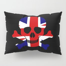 Union Jack Skull and Crossbones Pillow Sham