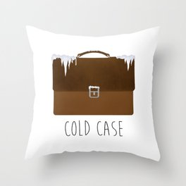 Cold Case Throw Pillow
