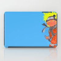 naruto iPad Cases featuring Naruto - ナルトwatercolour  by Lewys Williams