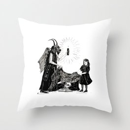 The Darkness And The Light Throw Pillow