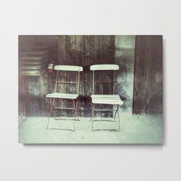 Two old garden chairs Metal Print
