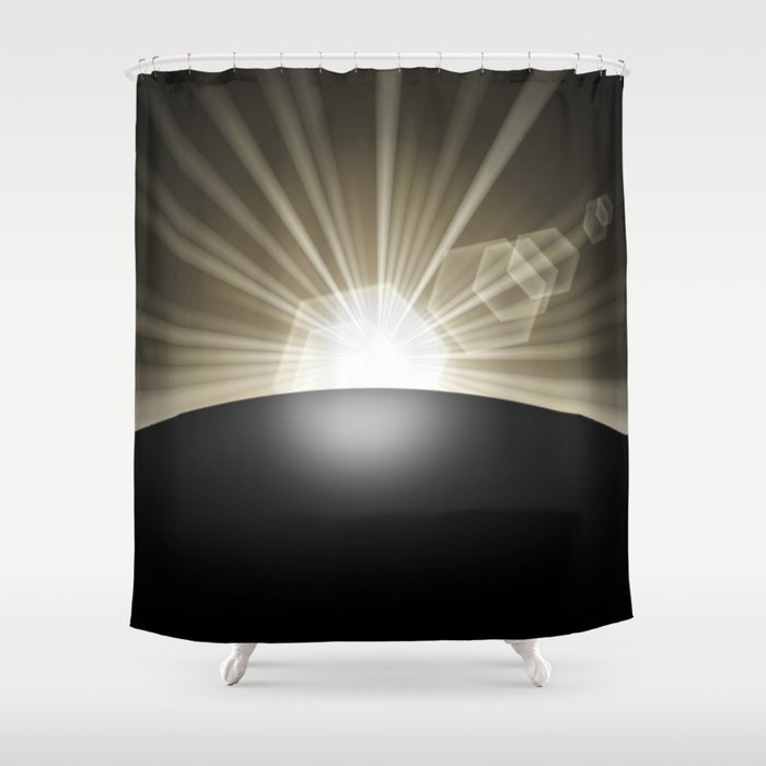 Sunrise Sunset Planet Shower Curtain