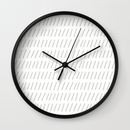 Ticks in a Row Wall Clock