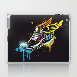 cool sneaker graffiti with wings Laptop & iPad Skin