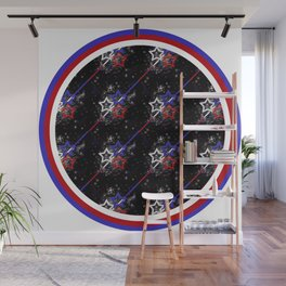 Stars and Stripes Diameter Wall Mural