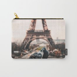 Lover Doves in Paris Carry-All Pouch