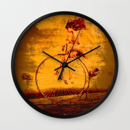 """ The life, it is as a bicycle, it is necessary to move forward not to lose the balance. "" Wall Clock"