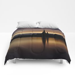 Lichfield Cathedral Sunset Reflection Comforters