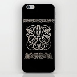 Old norse design - Two Jellinge-style entwined beasts originally carved on a rune stone in Gotland. iPhone Skin