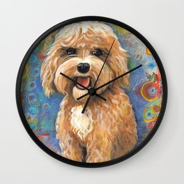 Golden Doodle by Robynne Wall Clock