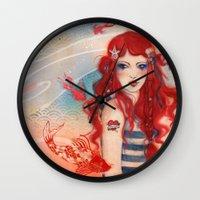 pirate Wall Clocks featuring Pirate by Minasmoke