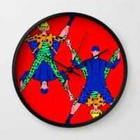 kenzo Wall Clocks featuring Kenzo Pop Art by Alli Vanes