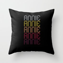 Annie Name Gift Personalized First Name Throw Pillow
