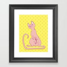 Cats with Tats Framed Art Print