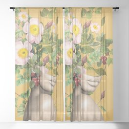 Floral beauty 12 Sheer Curtain