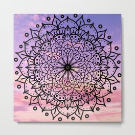 SUNSET MANDALA Metal Print