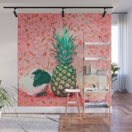 Guinea pig and pineapple Wall Mural
