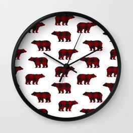 Lumberjack Bears Wall Clock