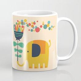 Elephant with giant flower Coffee Mug