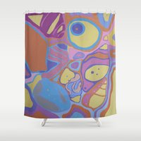 shells Shower Curtains featuring SHELLS by Valentina Paglia