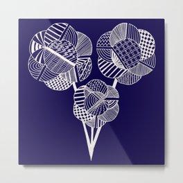 Geometric flowers Metal Print