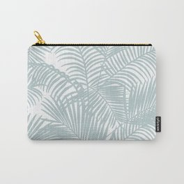 Pastel green modern tropical floral palm tree pattern Carry-All Pouch
