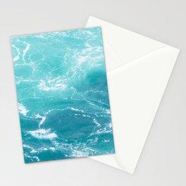Turquoise Turbulence Stationery Cards