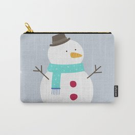 Snow winter man Carry-All Pouch