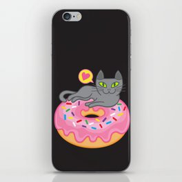 My cat loves donuts 2 iPhone Skin