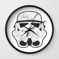 stormtrooper Wall Clocks featuring Stormtrooper by Santos