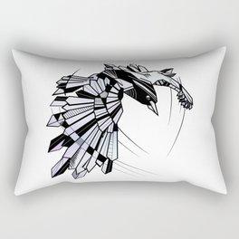 Geometric Raven Rectangular Pillow