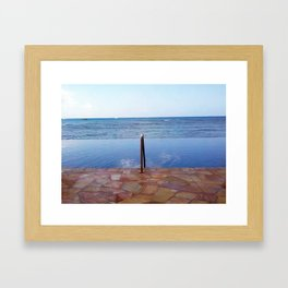 Infinity Pool Framed Art Print