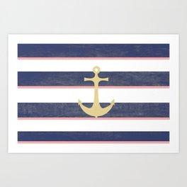 Anchor Away Art Print
