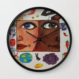 Love-World-Coexist-Life-Peace-Happiness  Wall Clock