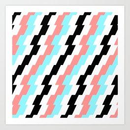 Retro Zags Art Print