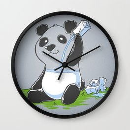 Panda in my FILLings Wall Clock