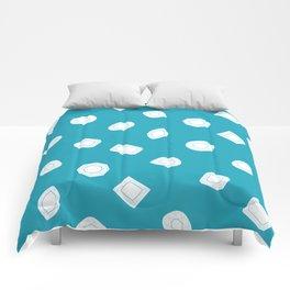 Blue Moissy Gem Pattern Comforters