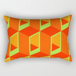 Tangerine Tangents Rectangular Pillow