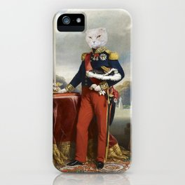 Cat - 18th century - oil on canvas - Instant Download Poster iPhone Case