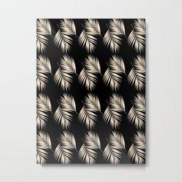 Palm Leaves Pattern #13 #Gold Touch #Black #decor #art #society6 Metal Print