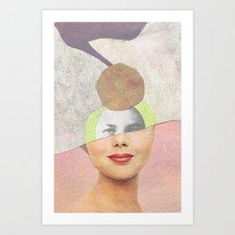Ritratto riciclato Art Print