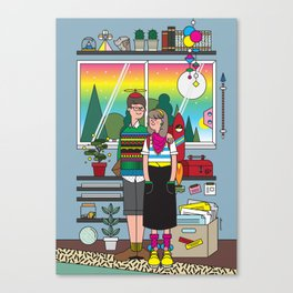 The Apartment of Quirks Canvas Print
