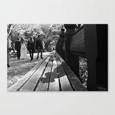 Bench or Bride? Canvas Print