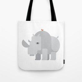 Minimalistic wildlife 02 – Rhino Tote Bag