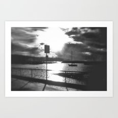 Morning awakes the Harbour Art Print