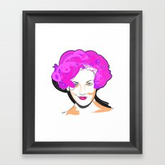 Drew Barrymore Framed Art Print