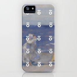 Keyhole Beach Painting iPhone Case
