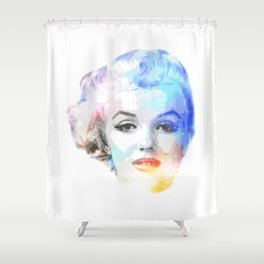 The Blond Bombshell Shower Curtain